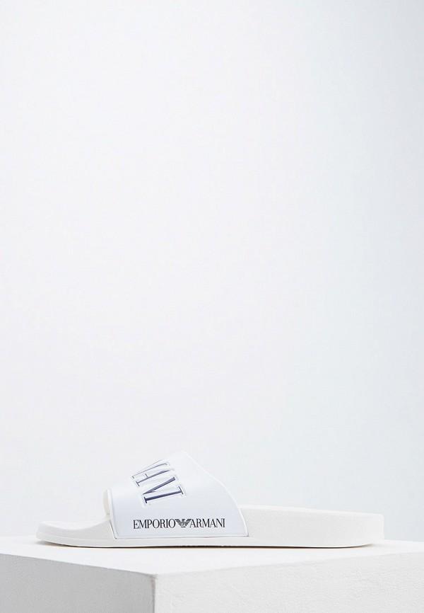 Купить Сланцы Emporio Armani, em598amdpvt3, белый, Весна-лето 2019