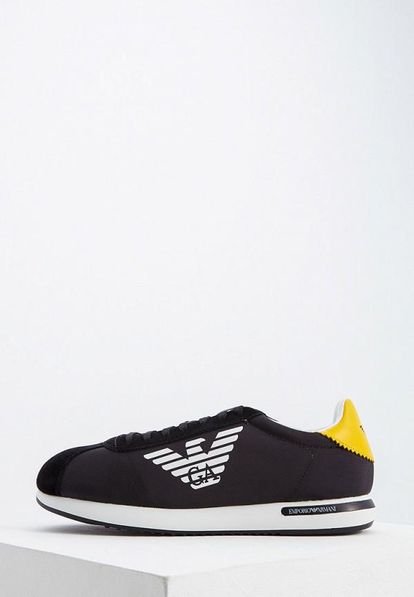 мужские кроссовки emporio armani, черные