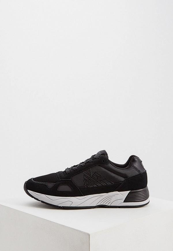 Фото - мужские кроссовки Emporio Armani черного цвета