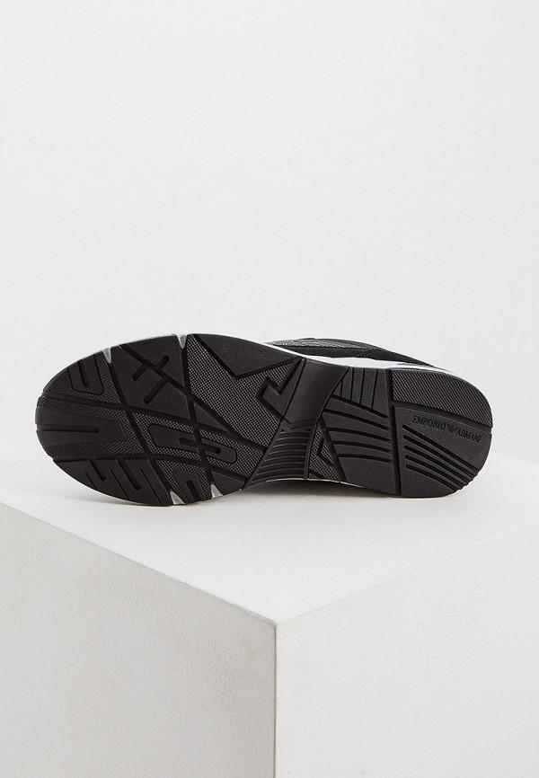 Фото 3 - мужские кроссовки Emporio Armani черного цвета