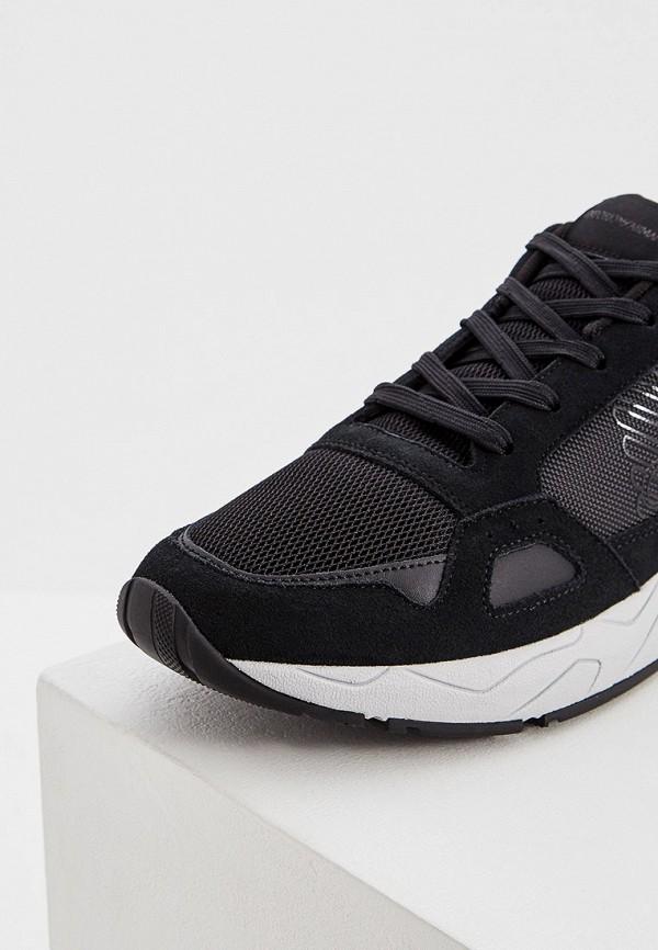 Фото 4 - мужские кроссовки Emporio Armani черного цвета