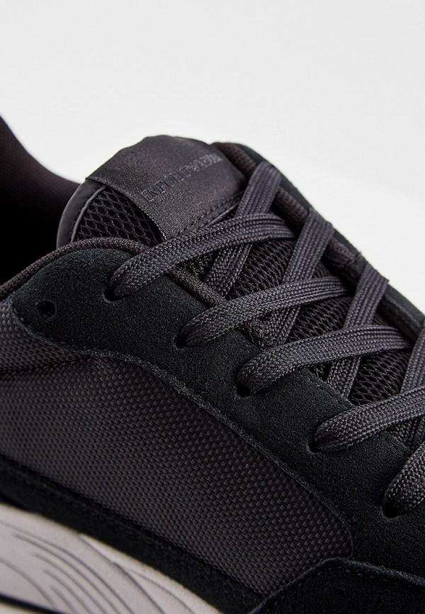 Фото 5 - мужские кроссовки Emporio Armani черного цвета