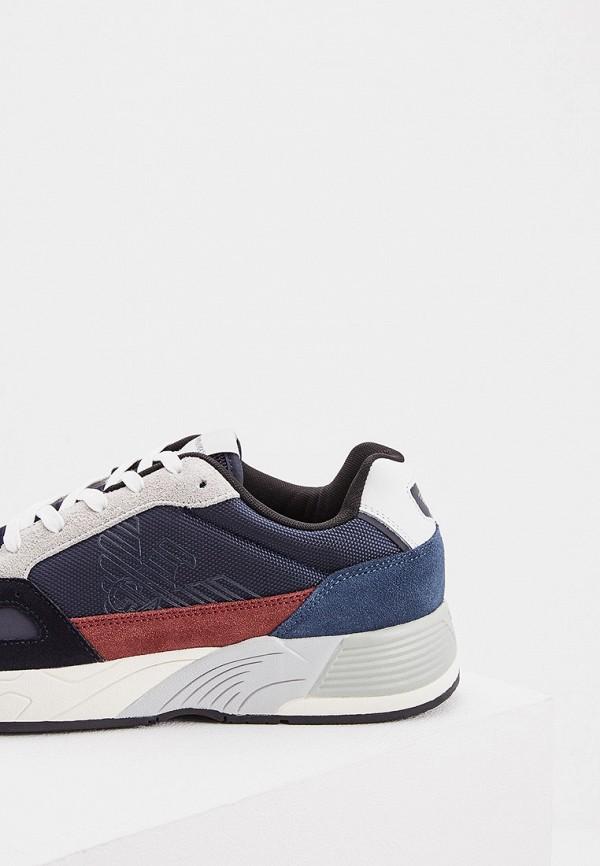 Фото 4 - мужские кроссовки Emporio Armani разноцветного цвета