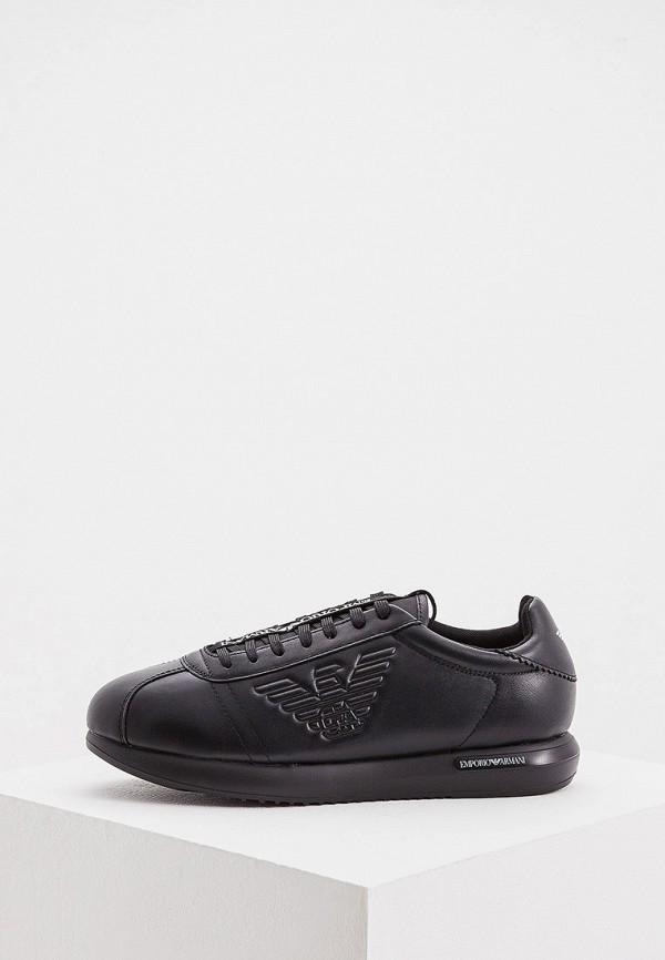 мужские низкие кроссовки emporio armani, черные
