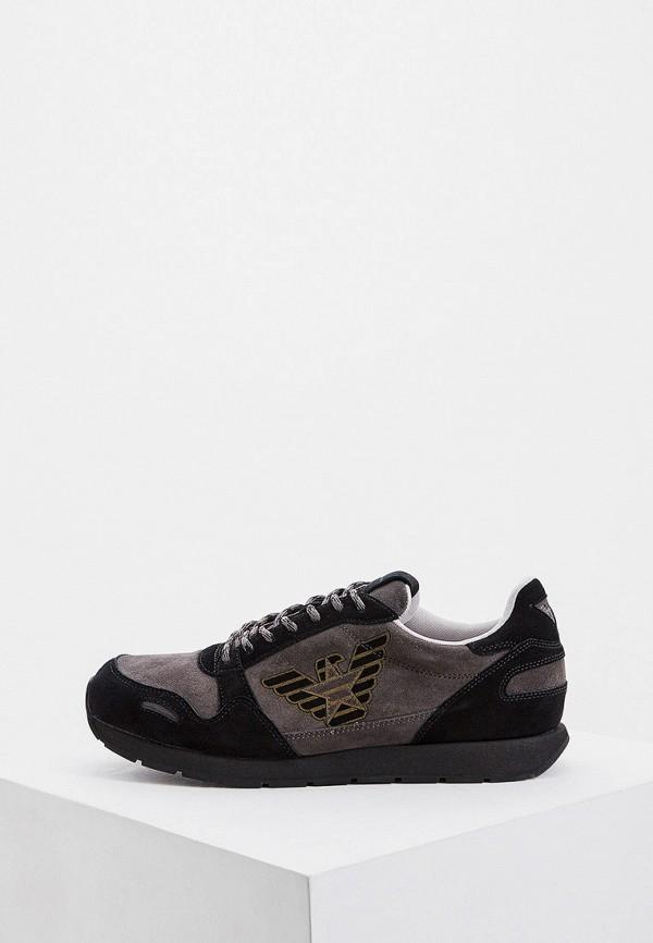мужские низкие кроссовки emporio armani, серые