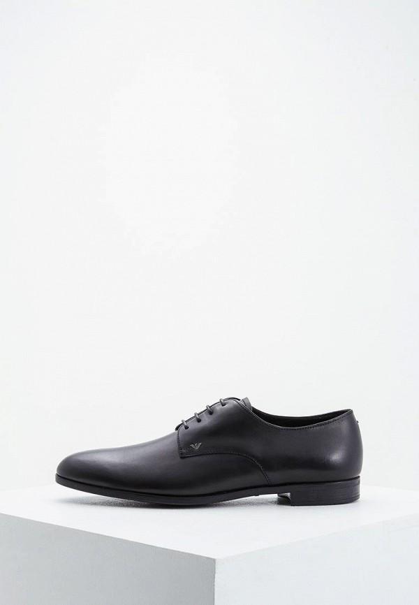 мужские туфли emporio armani, черные