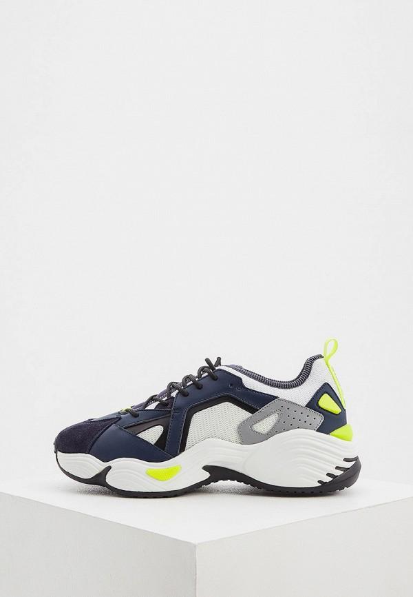 мужские кроссовки emporio armani, синие