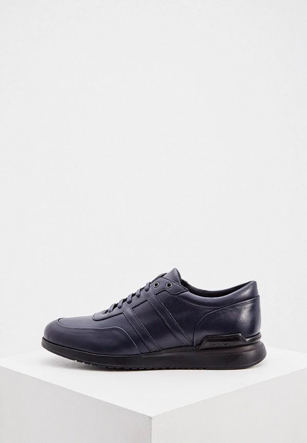 мужские низкие кроссовки emporio armani, синие