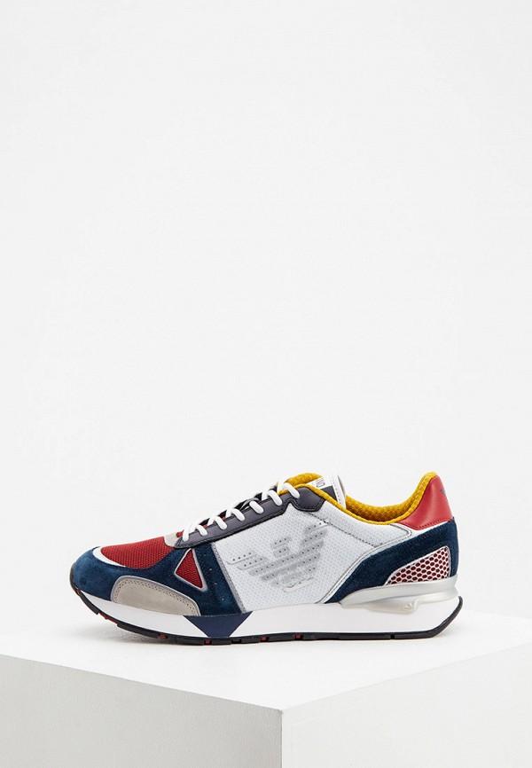 мужские низкие кроссовки emporio armani, разноцветные