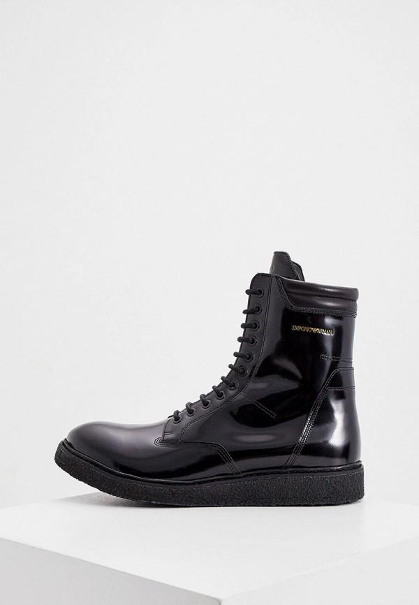 мужские ботинки emporio armani, черные