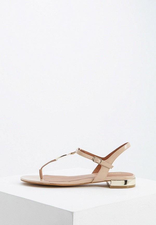 Фото - женские сандали Emporio Armani бежевого цвета