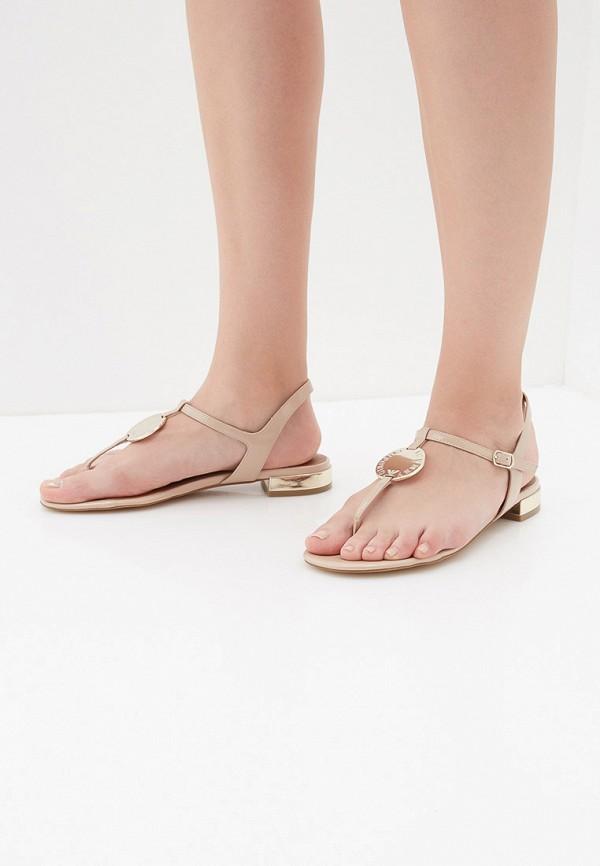 Фото 5 - женские сандали Emporio Armani бежевого цвета