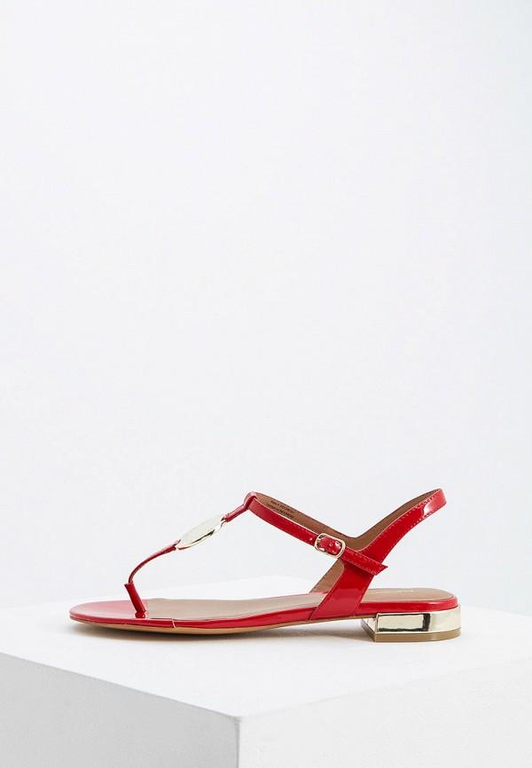 женские сандалии emporio armani, красные