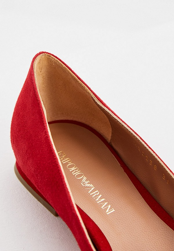 Фото 5 - женские туфли Emporio Armani красного цвета