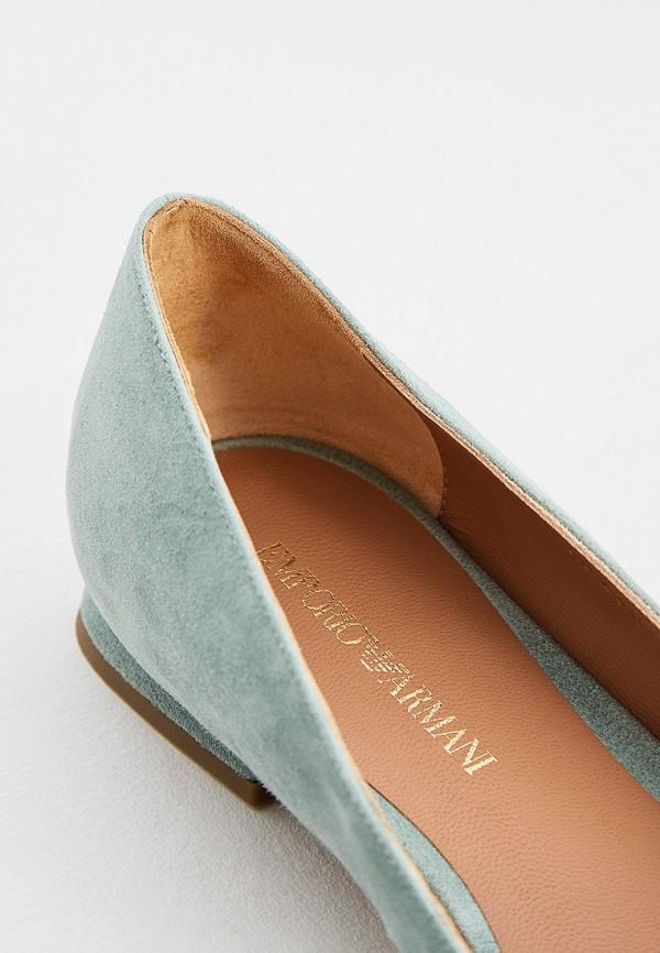 Фото 5 - женские туфли Emporio Armani бирюзового цвета