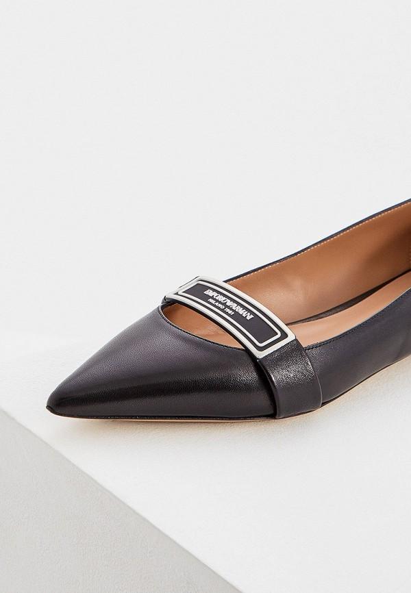 Фото 2 - женские туфли Emporio Armani черного цвета