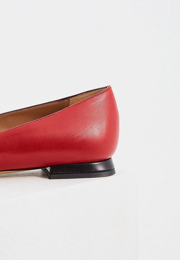 Фото 4 - женские туфли Emporio Armani красного цвета