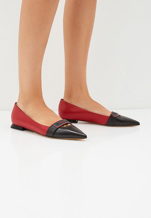 Фото 6 - женские туфли Emporio Armani красного цвета