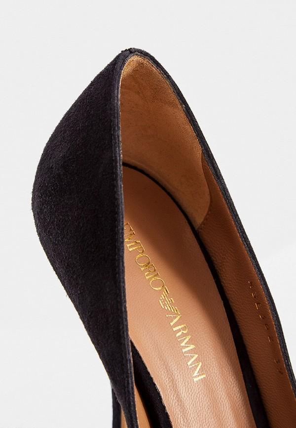 Фото 5 - женские туфли Emporio Armani черного цвета