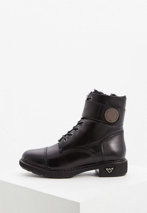 женские ботинки emporio armani, черные
