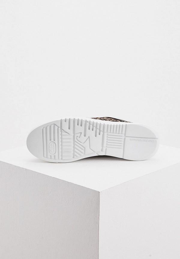 Фото 3 - женские кроссовки Emporio Armani бежевого цвета