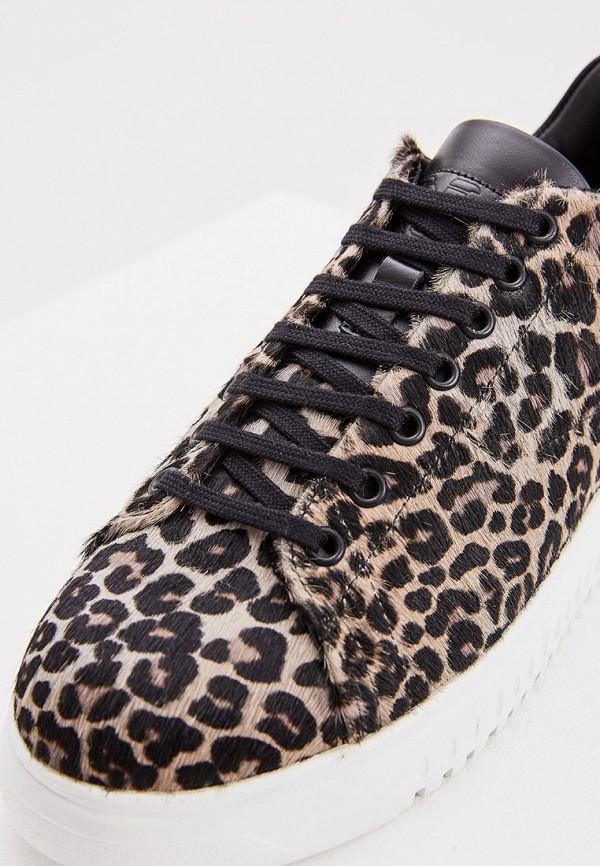 Фото 5 - женские кроссовки Emporio Armani бежевого цвета