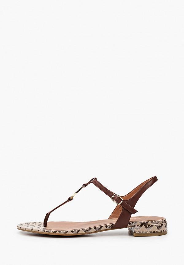 женские сандалии emporio armani, коричневые