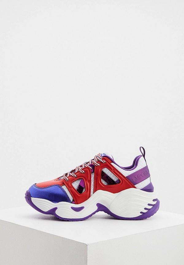 женские кроссовки emporio armani, разноцветные