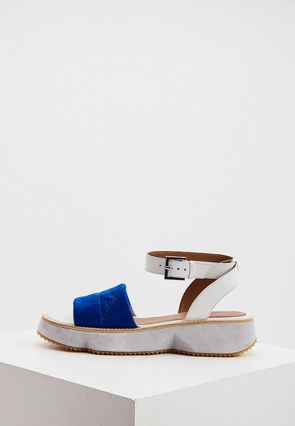 женские сандалии emporio armani, синие