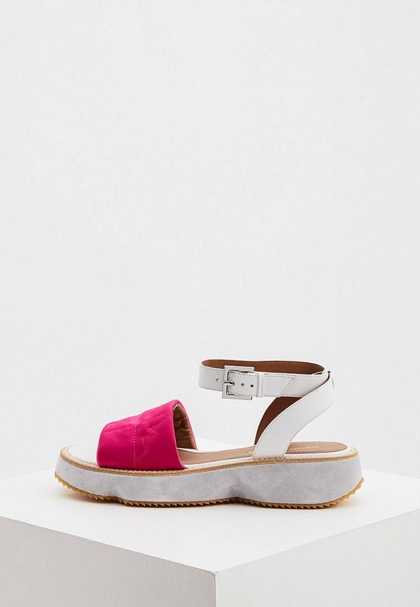 женские сандалии emporio armani, розовые
