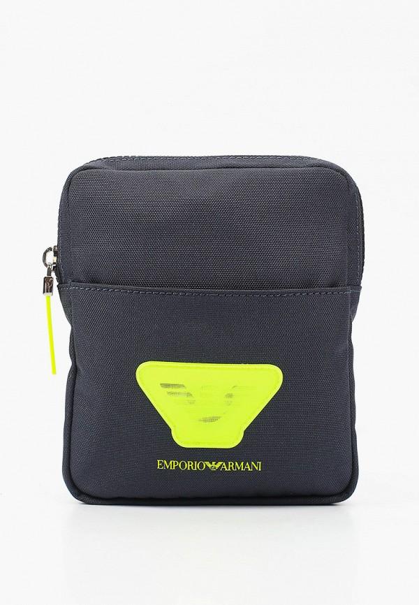 сумка emporio armani для мальчика, синяя