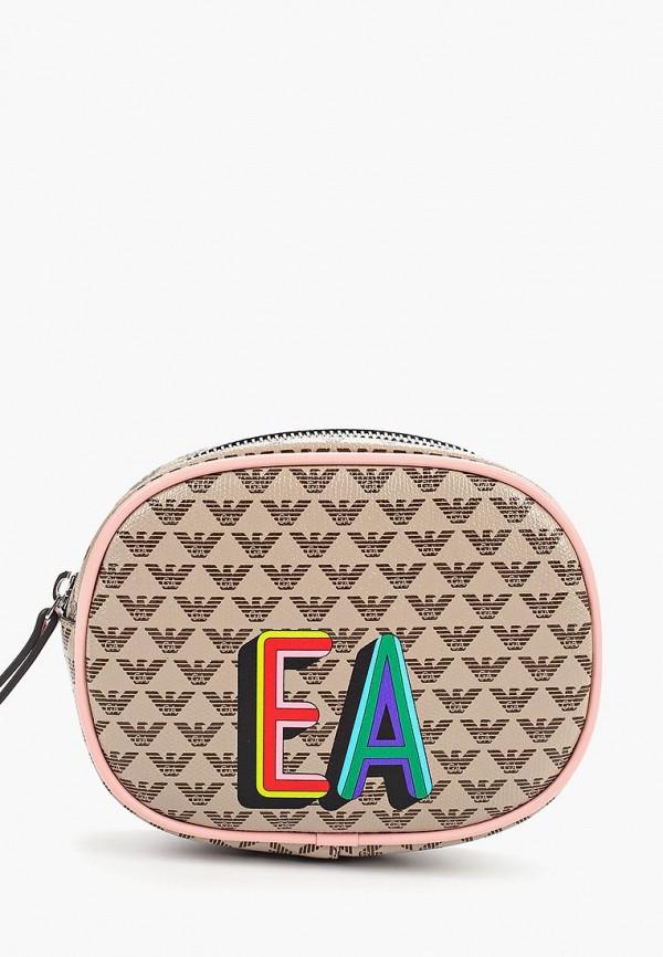 сумка emporio armani для девочки, бежевая