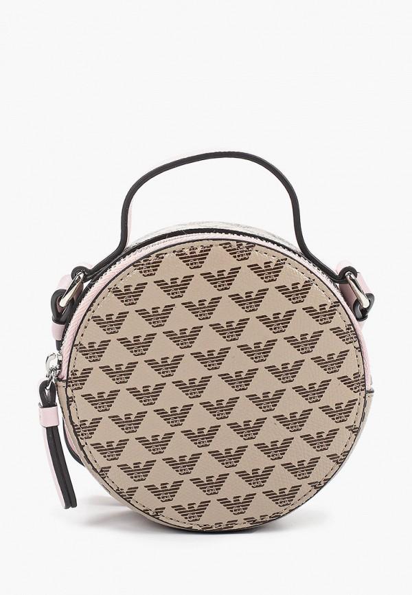 сумка emporio armani для девочки, коричневая