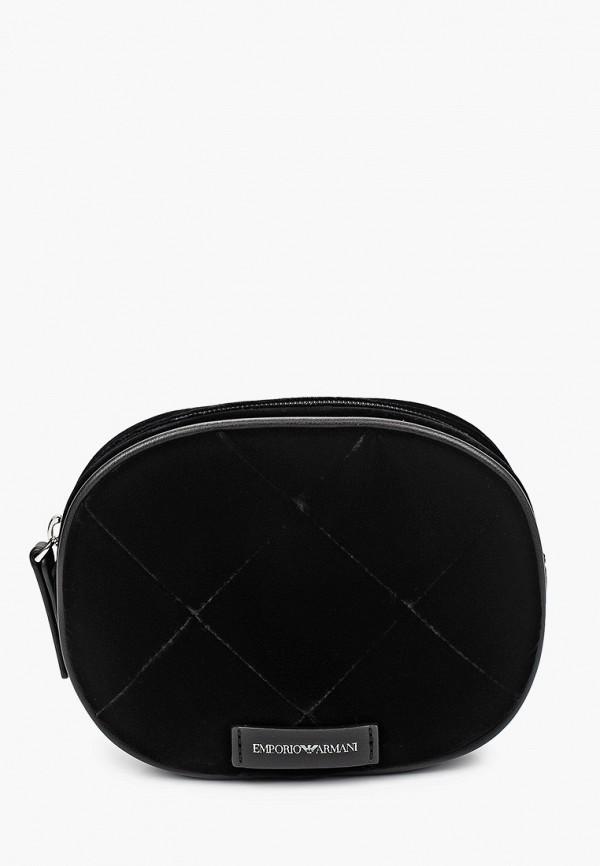 поясные сумка emporio armani для девочки, черная