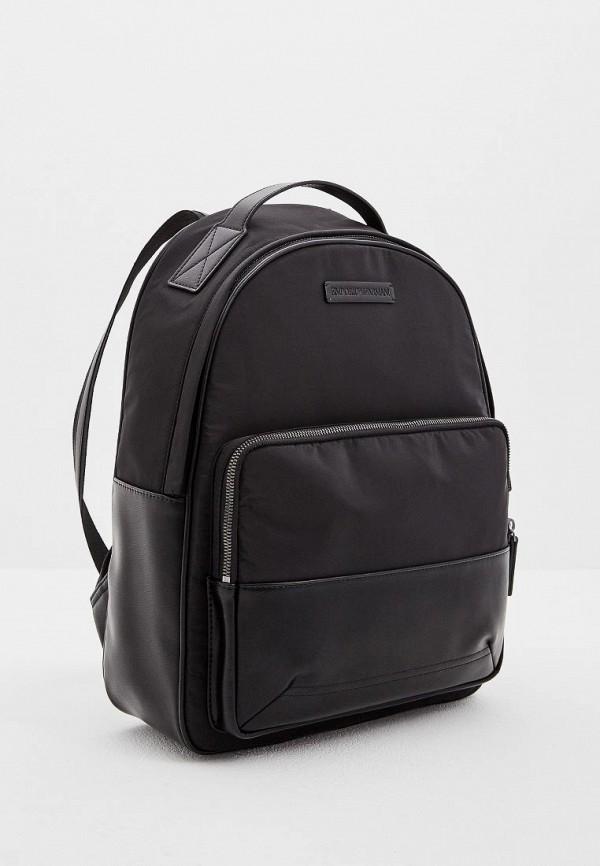 Фото 3 - мужской рюкзак Emporio Armani черного цвета