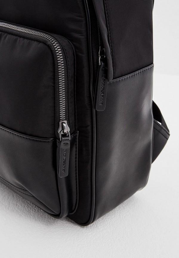 Фото 4 - мужской рюкзак Emporio Armani черного цвета