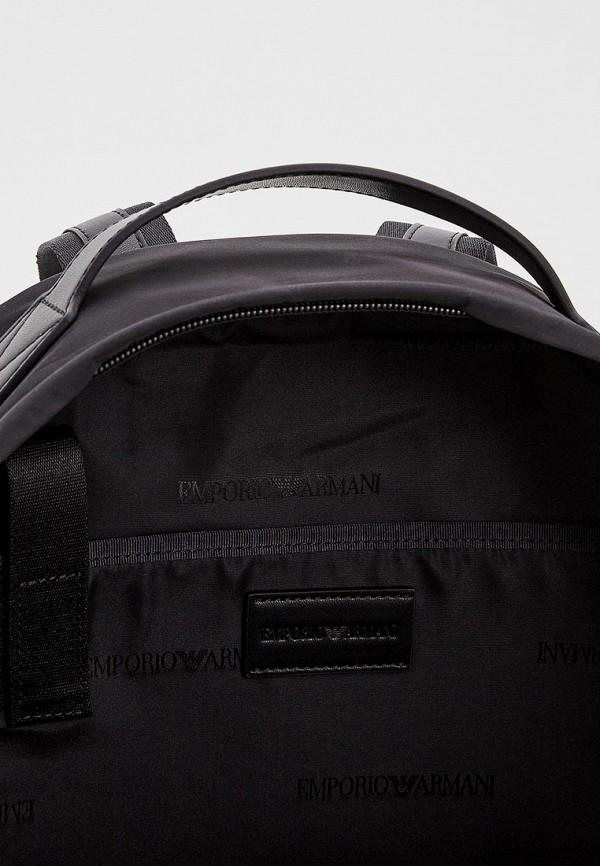 Фото 5 - мужской рюкзак Emporio Armani черного цвета