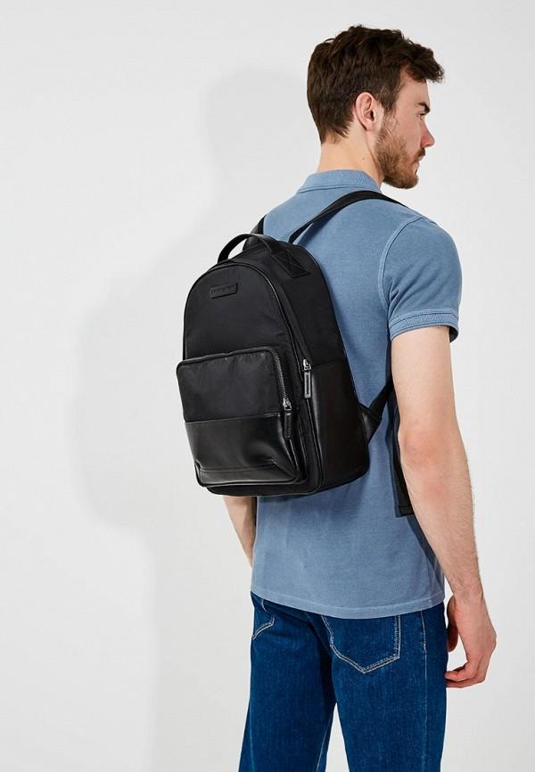 Фото 6 - мужской рюкзак Emporio Armani черного цвета