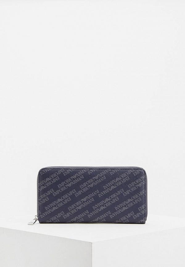 мужской кошелёк emporio armani, синий