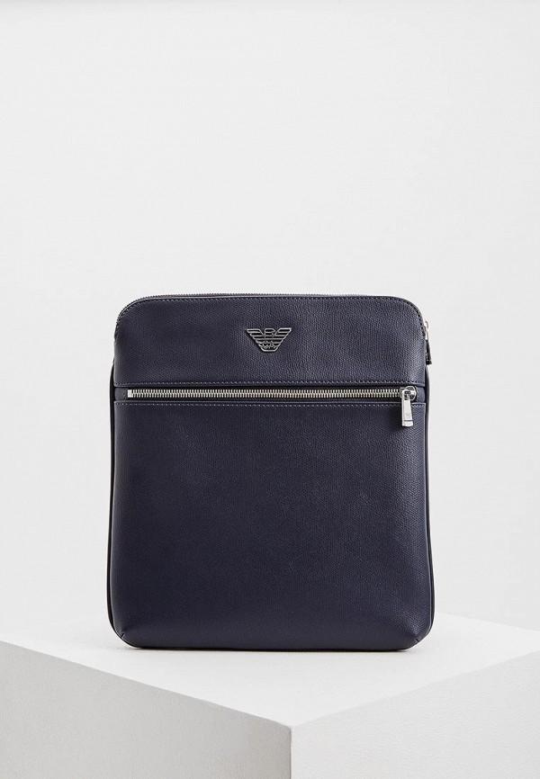 мужская сумка emporio armani, синяя