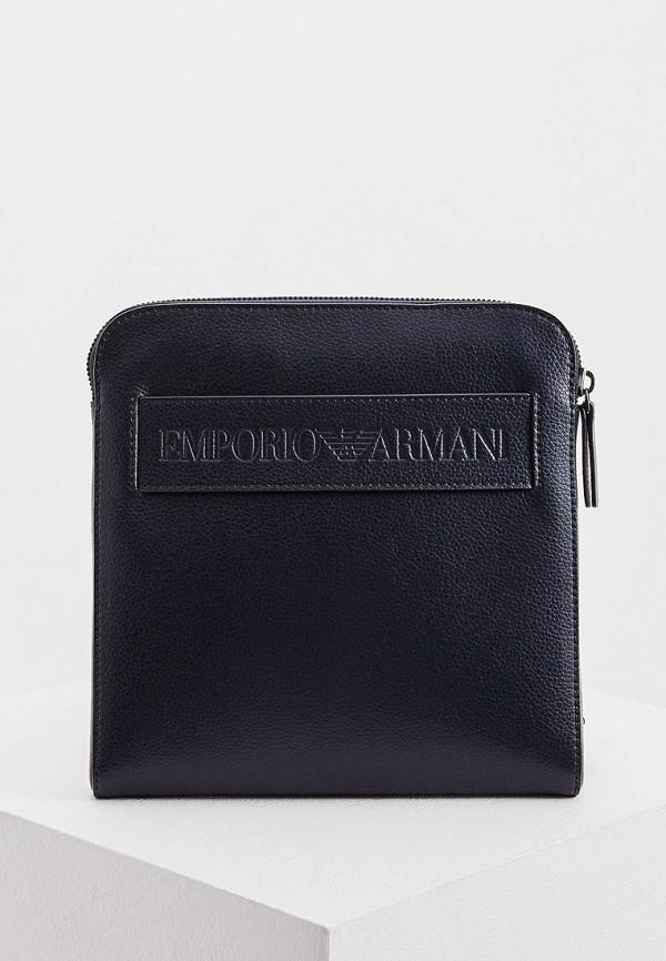 Фото - мужскую сумку Emporio Armani синего цвета