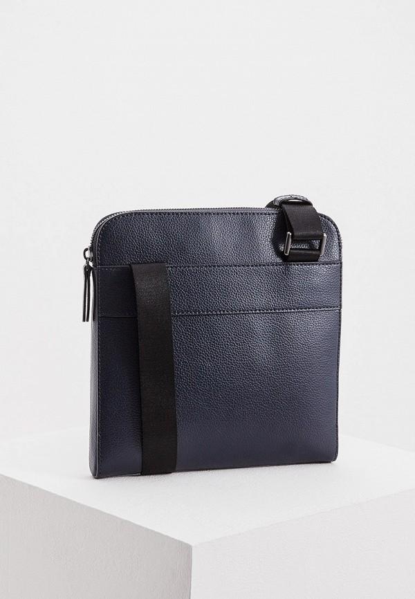 Фото 2 - мужскую сумку Emporio Armani синего цвета