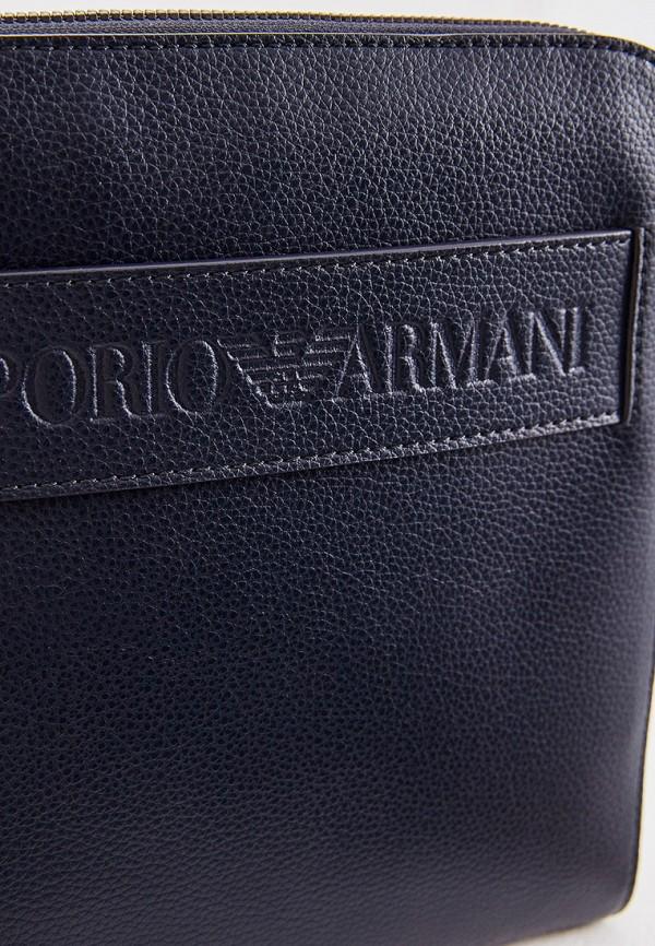 Фото 3 - мужскую сумку Emporio Armani синего цвета