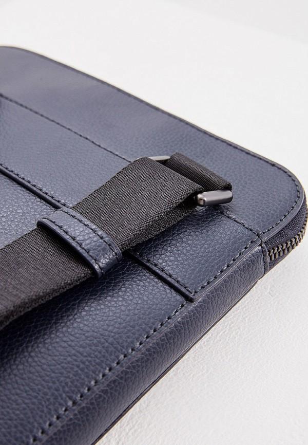 Фото 4 - мужскую сумку Emporio Armani синего цвета