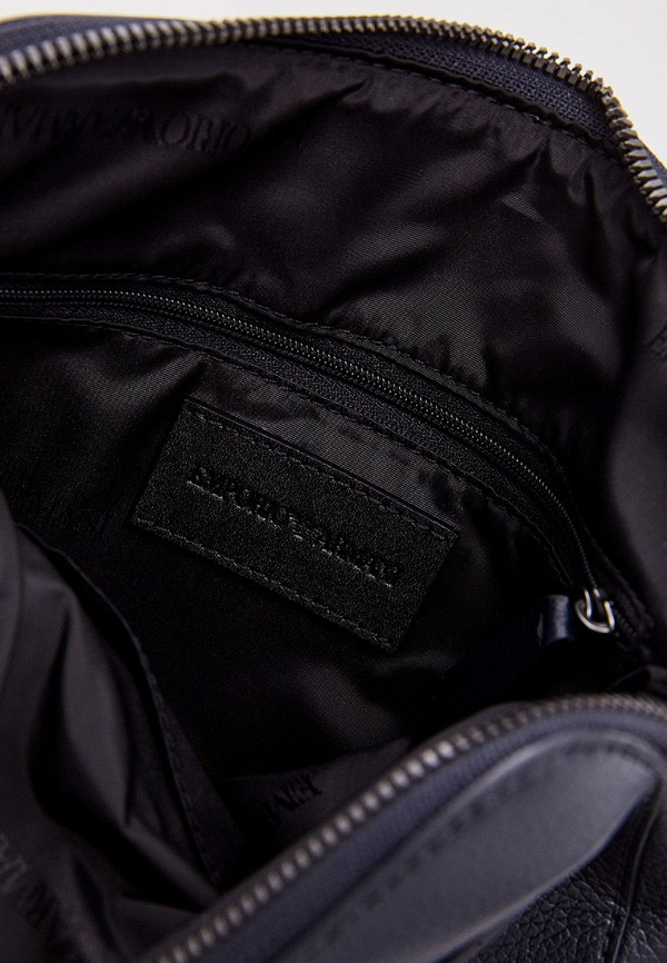 Фото 5 - мужскую сумку Emporio Armani синего цвета