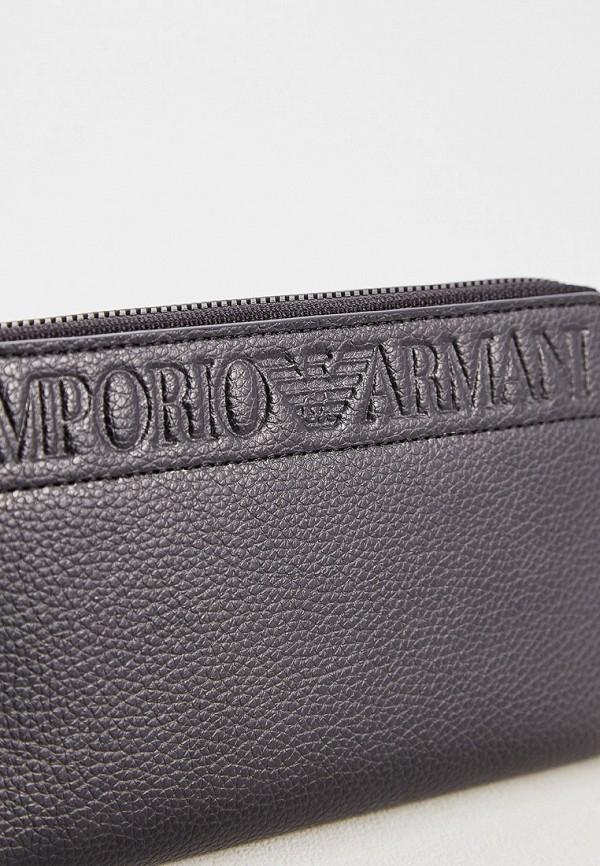 Фото 3 - мужской кошелек или портмоне Emporio Armani черного цвета