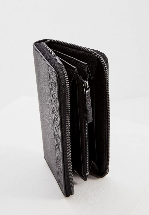 Фото 4 - мужской кошелек или портмоне Emporio Armani черного цвета