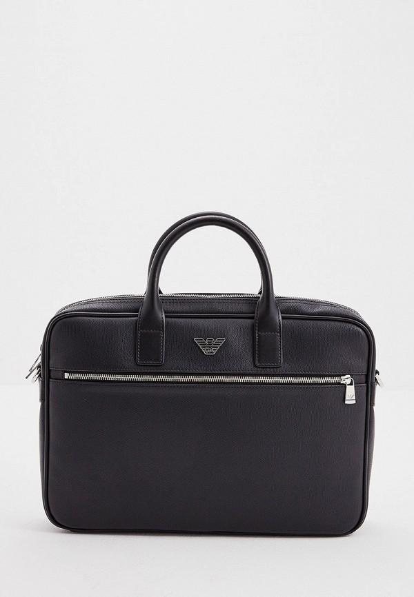 Фото - мужскую сумку Emporio Armani черного цвета