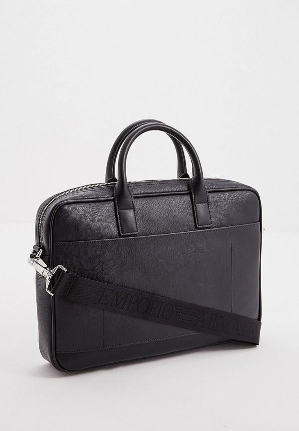 Фото 2 - мужскую сумку Emporio Armani черного цвета