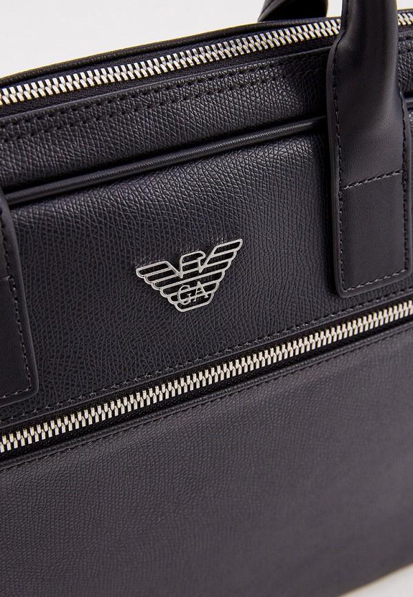 Фото 3 - мужскую сумку Emporio Armani черного цвета